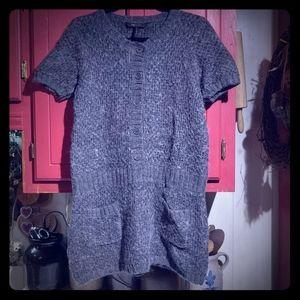 BCBGMaxAzria Gray Sweater Mini Dress or Tunic